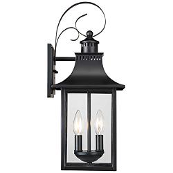 "Quoizel Chancellor 19"" High Mystic Black Outdoor Wall Light"