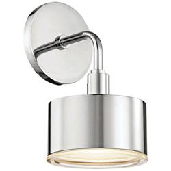 "Mitzi Nora 9"" High Polished Nickel LED Wall Sconce"