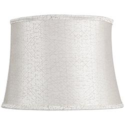 Cream with Gold Crossed Thread Bell Shade 12x14x11 (Spider)