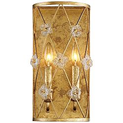 "Victoria Park 14"" High Elara Gold 2-Light Wall Sconce"