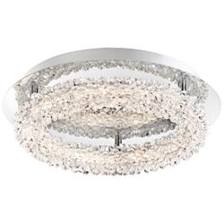 "Eurofase Sassi 15"" Wide Chrome LED Ceiling Light"