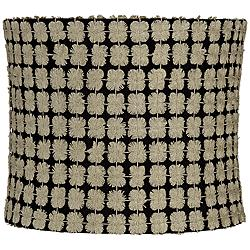 Edinburgh Gold over Black Drum Lamp Shade 12x12x10 (Spider)