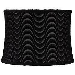 Baywood Black Sheer Wave Drum Lamp Shade 13x14x10 (Spider)