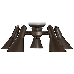 Retro Oil-Rubbed Bronze 5-Light LED Ceiling Fan Light Kit