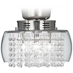 Crystal Rainfall Strands Clear Glass LED Light Kit