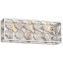 "Culture Chic 18 3/4"" Wide Catalina Silver Bath Light"