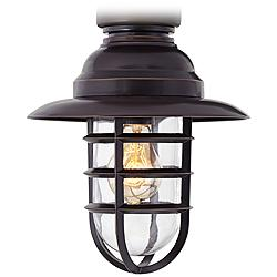 Marlowe Bronze Hooded Metal Cage LED Ceiling Fan Light Kit