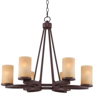 "Fairport 6-Light 28"" Wide Bronze Chandelier (4N628)"
