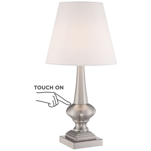 "Brushed Nickel Finish 19"" High Touch On-Off Table Lamp"