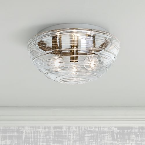 "Besa Wave 15"" Wide Clear Ceiling Light"