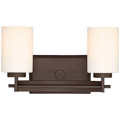 "Quoizel Taylor 13 1/2"" Wide Western Bronze 2-Light Sconce"
