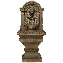 "Royal Lions-Head 51"" High Floor Fountain"