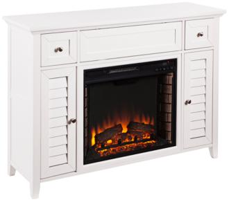 Fairbury White Wood 2-Door 3-in-1 Media Fireplace Console (55P48)