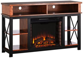 Edwards Dark Sienna Electric Fireplace TV/Media Stand (55P54)