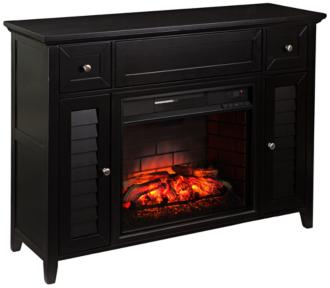 Fairbury Black 3-in-1 Infrared Media Fireplace Console (55P62)