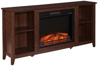 Parkdale Espresso Brown Wood Electric Fireplace TV Stand (55P70)