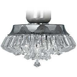 Deco Crystal Chrome Universal Ceiling Fan LED Light Kit