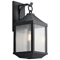 "Springfield 21 1/4"" High Distressed Black Outdoor Wall Light"