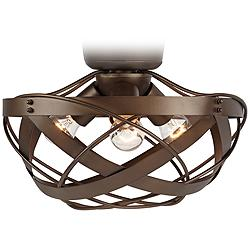 Orbital Weave Oil-Rubbed Bronze LED Fan Light Kit