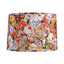 Deleon Multi-Color Floral Drum Lamp Shade 15x16x11 (Spider)