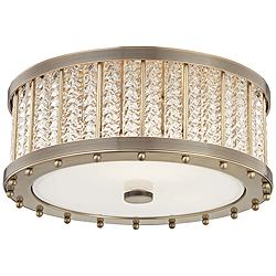 "Hudson Valley Shelby 16"" Wide Aged Brass Ceiling Light"