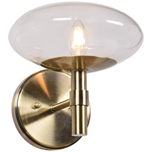 "Grand 9"" High Brushed Brass LED Wall Sconce"