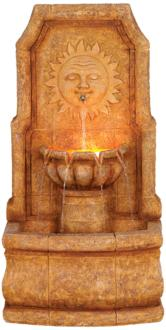"Sun Villa Faux Stone 37""H Outdoor Fountain with LED Lights (59913)"