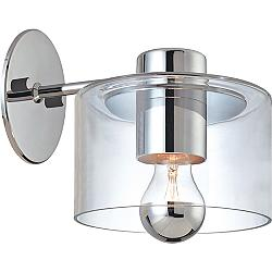 "Sonneman Transparence 8"" High Polished Chrome Wall Sconce"