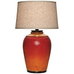 Kearny Light Redwood Urn Table Lamp
