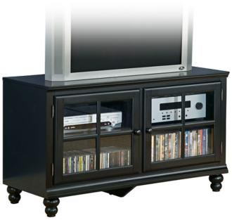 hillsdale grand bay small black entertainment console (5m171)