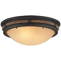 "Pike Place 16 3/4"" Wide Shipyard Rope Ceiling Light"