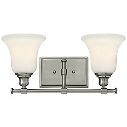 "Hinkley Colette 16 1/2""W Brushed Nickel 2-Light Bath Light"