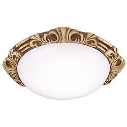 "Baroque 15 1/2"" Wide Gold Crackle Round Ceiling Light"