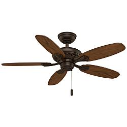 "44"" Casablanca Fordham Brushed Cocoa Ceiling Fan"