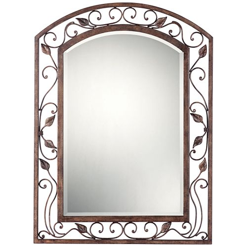 "Eden Park Bronze 25"" x 34"" Arch Top Wall Mirror"