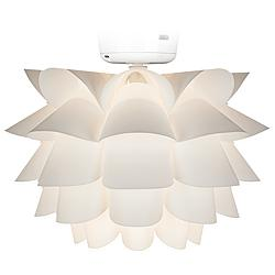 White Flower Ceiling Fan LED Light Kit