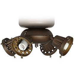 Bronze Pull Chain Universal Ceiling Fan LED Light Kit