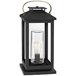 "Hinkley Atwater 21 1/2"" High Black Glass Outdoor Lantern"