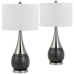 Sorrento Brushed Steel Metal Laser Cut Table Lamp