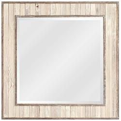 "Howard Elliott Sawyer Wood Plank 31 1/2"" Square Wall Mirror"