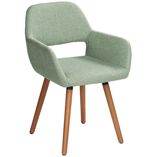 Nelson Sea Foam Green Fabric Dining Chair