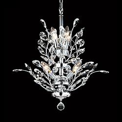 "Regalia 21"" Wide Silver 7-Light Crystal Dining Chandelier"