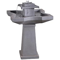 "Kenroy Home Quad 31 1/2""H Concrete Outdoor Floor Fountain"