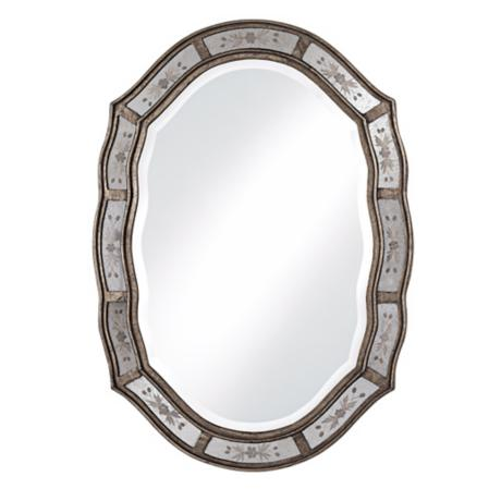 mirror in the bathroom fifi uttermost fifi etched 34 quot high wall mirror 67267 23772