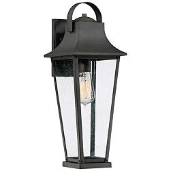 "Quoizel Galveston 19 1/4""H Mottled Black Outdoor Wall Light"