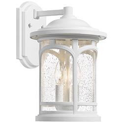 "Quoizel Marblehead 17 3/4""H White Lustre Outdoor Wall Light"