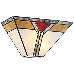 "Darley 6 1/2"" High Art Deco Tiffany Style Wall Sconce"