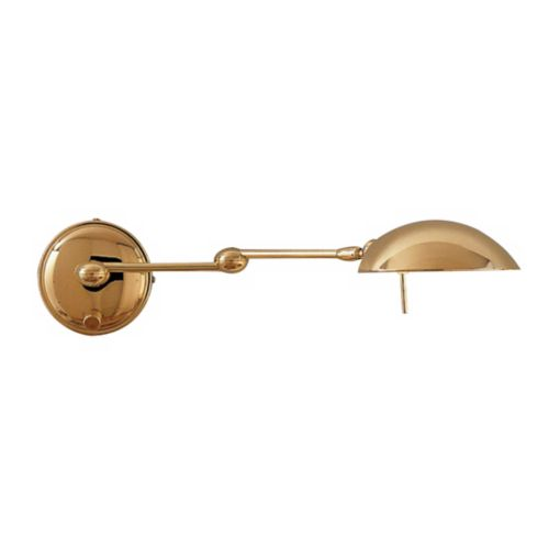 Holtkoetter Polished Brass Halogen Swing Arm Wall Lamp