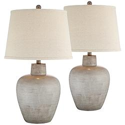 Glenn Southwest Urn Table Lamps Set of 2