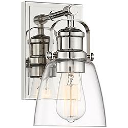 "Kalen 10"" High Polished Nickel Wall Sconce"